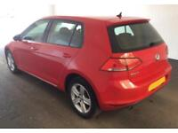 2016 RED VW GOLF 1.6 TDI 110 MATCH EDT DSG DIESEL 5DR HATCH CAR FINANCE FR £46PW