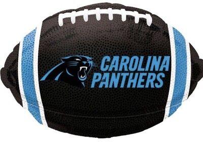 5 New 17 Inch Carolina Panthers Nfl Football Shaped Mylar - Mylar Football Balloons