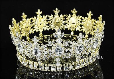 Männer König Krone (Männer Hochzeit Partei kaiserlich Kristall Kreis Gold König Krone T1791)