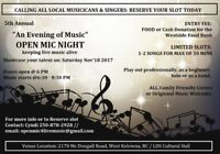 5th Annual Evening of Music OPEN MIC Night