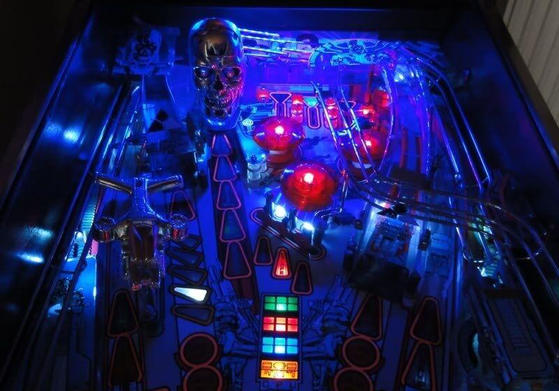 TWILIGHT ZONE,TERMINATOR 2 T2 Pinball Playfield Light mod BLUE JUDGE DREDD