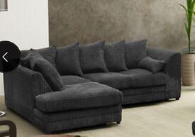 Milo plain left hand corner sofa grey
