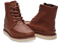Mens Toms Brown Full Grain Leather Searcher Boots