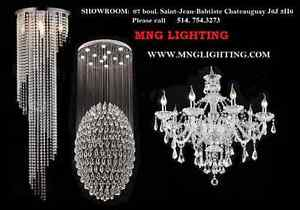 MODERN CRYSTAL CHANDELIERS - BRAND NEW in the boxes