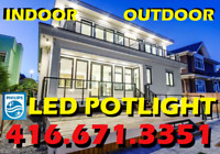 QUALITY PHILIPS® LED POTLIGHT RELIABLE INSTALLATION $55