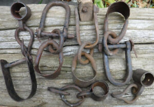 OLD RECLAIMED FARM HARDWARE YOKE FITTINGS  OX HORSE STEAMPUNK
