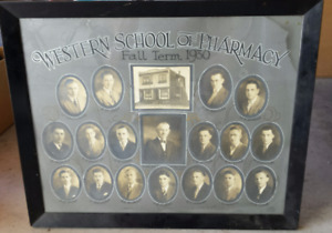 Western School of Pharmacy Graduate Class Framed photo 1930 Vanc