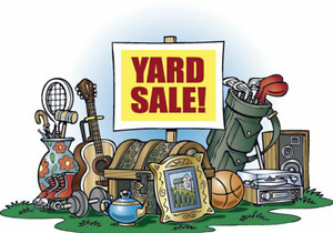 YARD SALE! ONE DAY ONLY!
