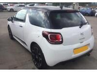2012 WHITE CITROEN DS3 16 VTI 120 DSTYLE PLUS PETROL HATCH CAR FINANCE FR £20 PW