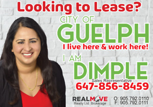 looking to lease in city of Guelph?