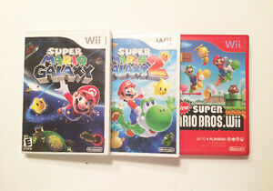 3 Mario Games for Nintendo Wii