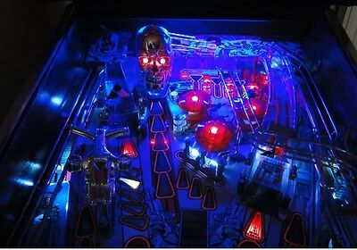 JUDGE DREDD, TWILIGHT ZONE,TERMINATOR 2 T2 Pinball Playfield Light mod BLUE  for sale  Shipping to Canada