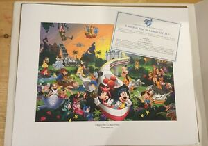 Disney World Multi character poster - great Christmas gift!