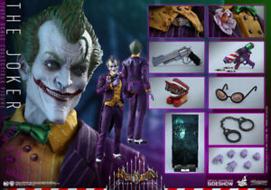 JOKER Batman Arkham Asylum Hot Toys 1/6 Scale Sideshow Brand new