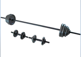 Opti Cast Iron Bar and Dumbbell Weight Set - 48.8kg