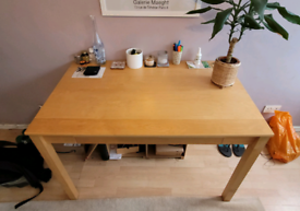 Large desk or table. Strong with nice finish.