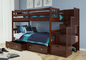 Bunk Beds with twin-sized mattress!