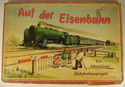 """Seltenes Würfelspiel """" Auf der Eisenbahn """" frühe DDR Zeit"""