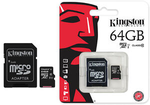 MICROSD CARD 64GB CLASS 10 UHS1 KINGSTON BRAND NEW