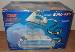 VINTAGE EURO PRO EP8000 STEAM GENERATOR IRON (LIKE NEW - IN BOX)