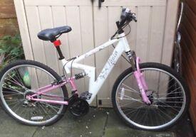 "apollo theia girls bike 18 gear , 26"" wheel ( hardly used)"