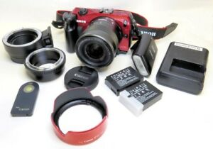 PRICE DROP!  Canon EOS M digital camera, adapters, bag more!