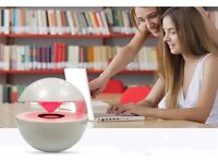 Bluetooth Speaker 360 Surround Stereo Touch Control Speaker LED Hand-free Speaker For Iphone Samsung