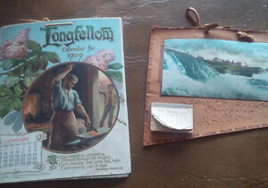 Two Very Old Calendars, 1909, 1911