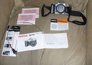 Pentax ZX-50 35mm SLR Film Camera with strap and more