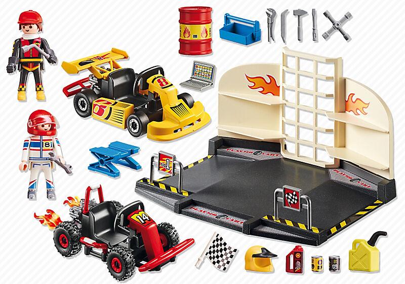Playmobil 6869 City Action Go Kart Garage Starterset For Sale Online