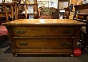 GREAT VINTAGE LOWBOY CHEST OF DRAWERS AT CHARMAINE'S