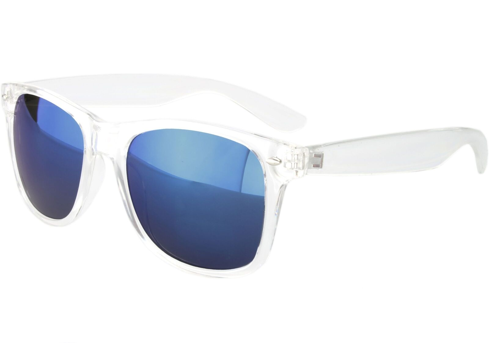 Clear Frame Classic Sunglasses Blue Mirror Lenses | eBay