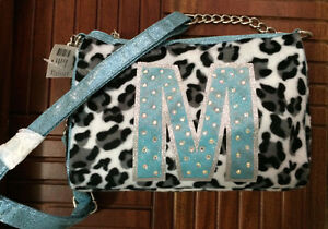 New with tags Justice Crossbody Bag Letter M