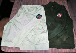 West German corrections sweater and shirt, xl size