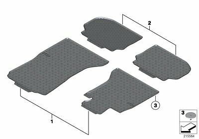 BMW Genuine F10 F11 All Weather Rubber Front Floor Mats 5 Series 51472350432