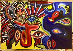 24x36x1.5 original acrylic on canvas painting.