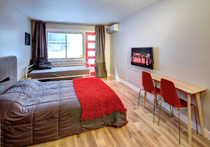 FURNISHED DOWNTOWN STUIO APARTMENTS