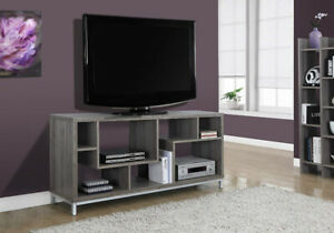 """Monarch Specialties I 2578 Dark Taupe TV Stand, 60"""" New in Box"""