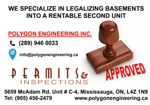 Legal Basement - Building Permit - Brampton/Mississauga
