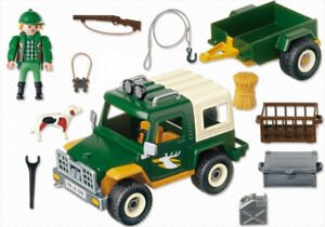 Playmobil  Forest Truck with Trailer Set in Excellent Condition