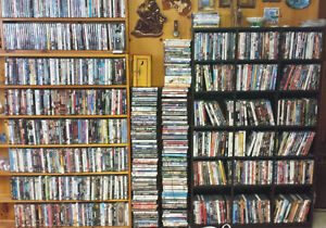 Over 350 DVDs and some Blu-rays