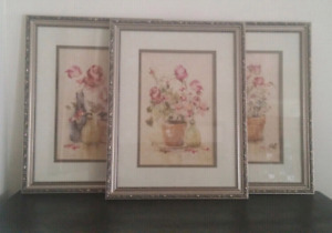3 Framed wall art pictures