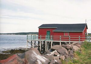 Rustic Cabin With Picturesque View Of Fundy Bay Lighthouse