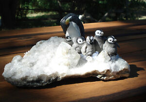 Hand Crafted Penguin Family Peterborough Peterborough Area image 7