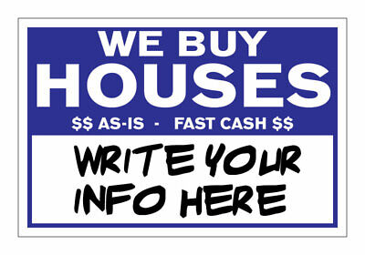 Qty 100 We Buy Houses Bandit Yard Signs Write Your Own Information -