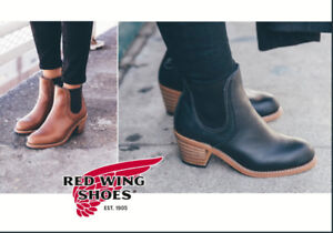 Red Wing Harriet 3391 Black Leather Booties size 7