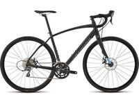 Specialized Diverge 2015 All-surface - Adventure Road Bike - Black - Size 56cm. Collection only