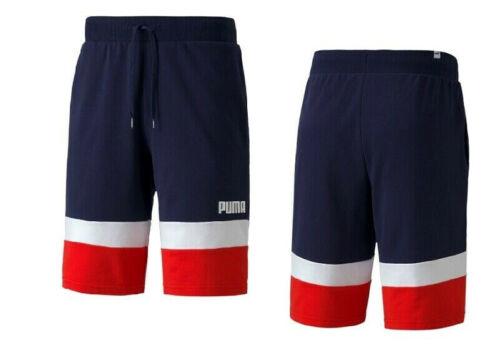 Puma Men Celebration Color Block Sweat Shorts Blue/red/white 584285-06
