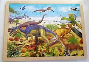 NEW Children's Wooden DINOSAUR Jigsaw PUZZLE 48 pce