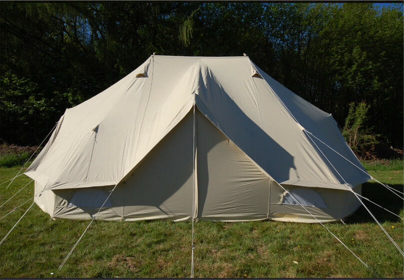 Shipping 3m Bell Tent Outdoor Canvas Safari 100 & Bell Tent Fly Sheet - Best Tent 2018